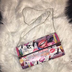 Handbags - New! Retro Pop Culture Clutch w/chain strap